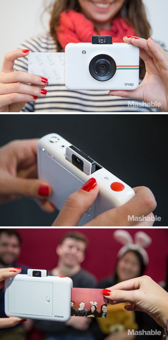 Cámara Snap. Para que puedas atesorar esos momentos especiales, esta cámara imprime foto stickers de las fotos que toma en tan sólo 35 segundos