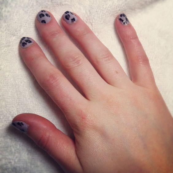 Leopard nail art...wild!