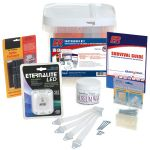 "Earthquake Kit Accessory Kit to the Home Survival Kit with additional emergency supplies specifically designed to prepare your home for earthquakes. Some of the most common emergencies and even everyday accidents occur in the home. This custom kit is specially designed to contain the most effective supplies to ""quake-proof"" your home and protect against damage or injury that may occur during an accident or earthquake. 1) Package Picture Hooks- No-fall picture hooks. Support and protect even…"