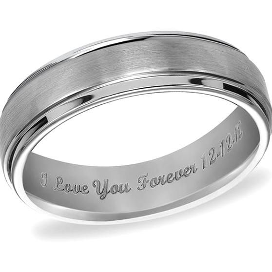 Triton Mens 60mm Engraved Comfort Fit Tungsten Wedding Band 25 Characters In 2020 Matching Wedding Rings Tungsten Wedding Bands Wedding Rings
