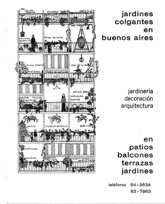 Aviso vintage (1971) de los Jardines Colgantes en Buenos Aires
