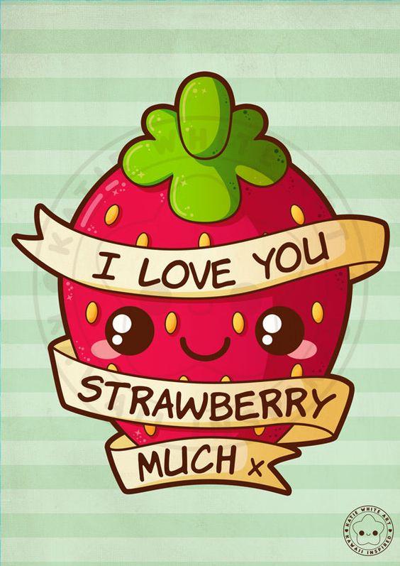I Love You Strawberry Much by pai-thagoras.deviantart.com on @DeviantArt