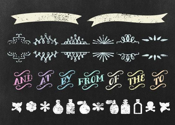 chalkboard designs free ornament dingbats that translate very well to a chalkboard style