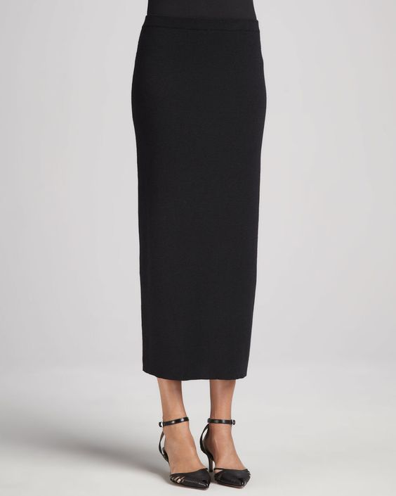 eileen fisher washable wool ankle length pencil skirt