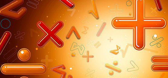 ثلاثية الأبعاد الرموز الرياضية الرياضيات الخلفية راية Neon Signs Neon Math