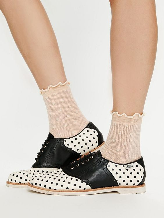 polka dot saddle shoes? i may have to weigh in on these. so cool!