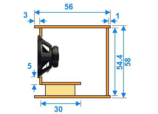 plan de caisson de basse double 38cm 1