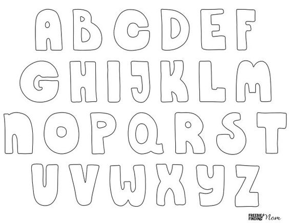 Printable Bubble Letters  Woo! Jr Kids Activities