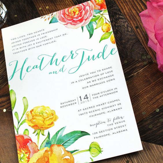 This wedding invitation OneSuiteDay custom designed for a client celebrated their big day recently and sent me this photo.