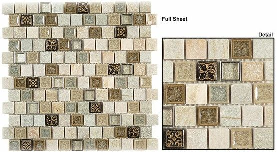 Glazzio Tranquil Offset Series 1 X 1 Mosaic In City Fiber