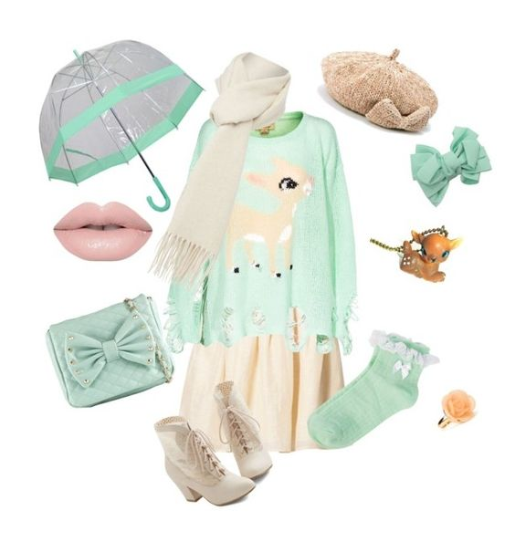 """""""Chilly rainy deer"""" by spacedonut ❤ liked on Polyvore featuring See U Soon, Wildfox, Frankford, Topshop, Call it SPRING, But Another Innocent Tale, Oasis, Boutique Moschino, Forever 21 and women's clothing"""