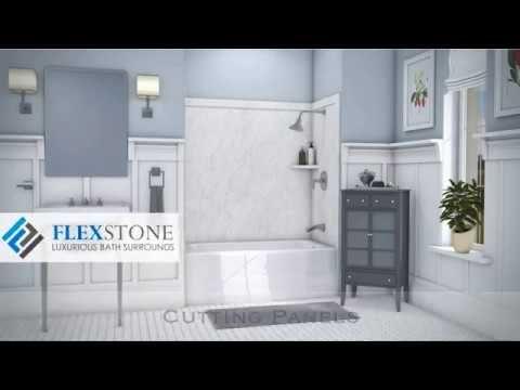 Flexstone Installation All 9 Segments Youtube In 2020 Bath Surround Shower Installation Bathroom Wall Panels
