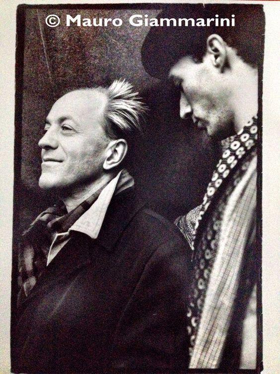 My friend, fashion photographer Rohn Meijer, many years ago in Milan.