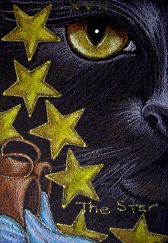 """Black Cat - The Star Tarot Card"" par Cyra R. Cancel"
