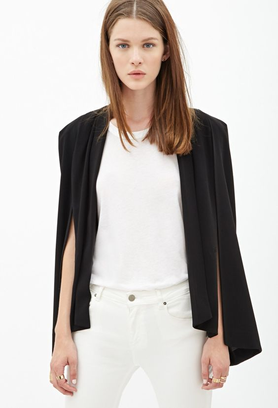 Classic Cape Blazer - Jackets & Coats - 2000119185 - Forever 21 EU English