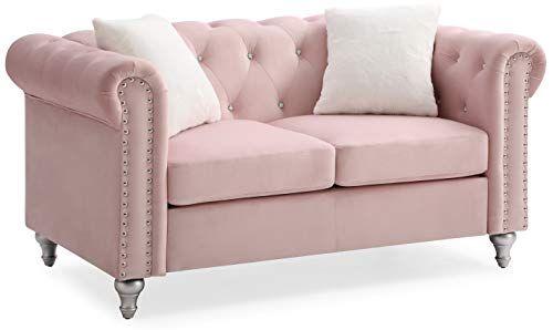Glory Furniture Raisa G864a L Pink Loveseat 30 Love Seat Pink