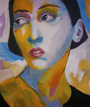 "Saatchi Online Artist richard kuhn; Painting, ""unknown model"" #art"