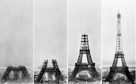 Paris. Torre Eifel y su evolución.