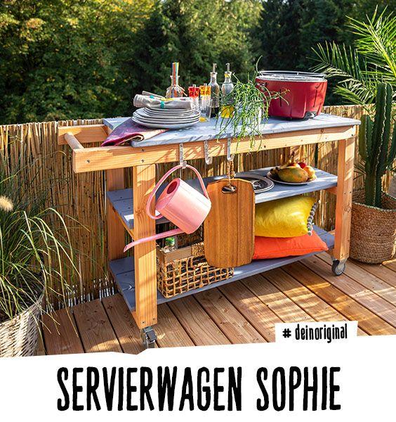 Servierwagen Sophie Create By Obi Servierwagen Kuche Bauen Kuche Holz