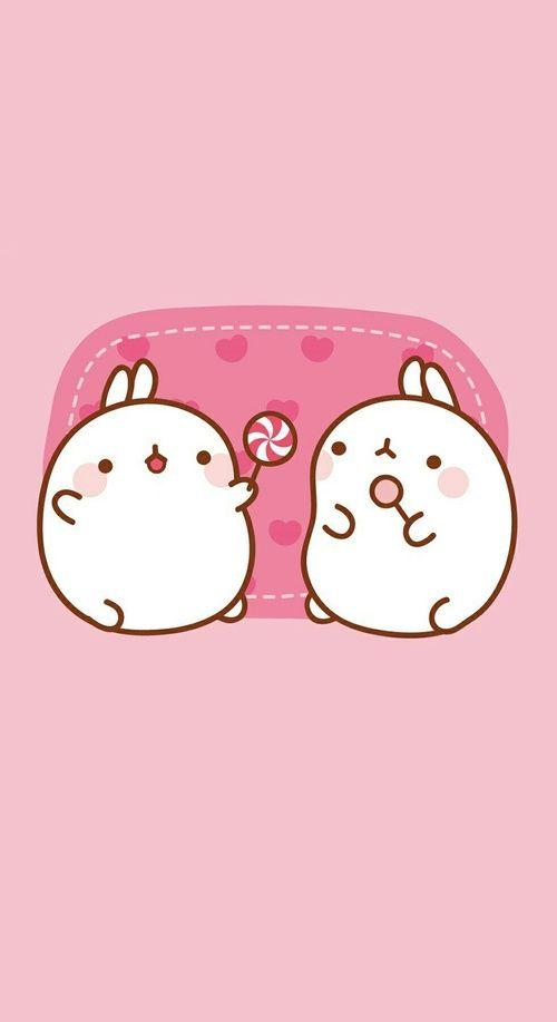 Kawaii Molang And Cute Image Cute Cartoon Wallpapers Molang Wallpaper Cute Animal Drawings