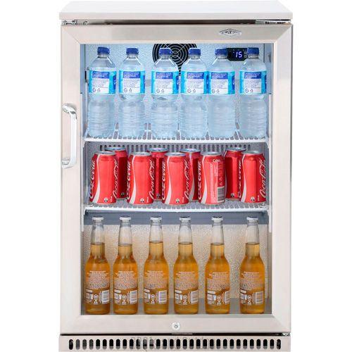 Stainless Steel Outdoor Fridge 120 Lt The Barbecue Store Spain Outdoor Fridge Outdoor Refrigerator Single Door Fridge