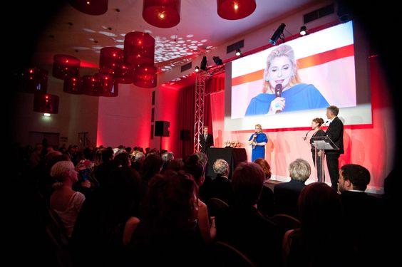 Actress Catherine Deneuve on stage