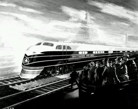 Baltimore & Ohio EMC EA Locomotives