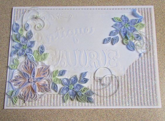 Unframed Art in Greeting Card Format by HeirloomQuilling on Etsy - greeting card format