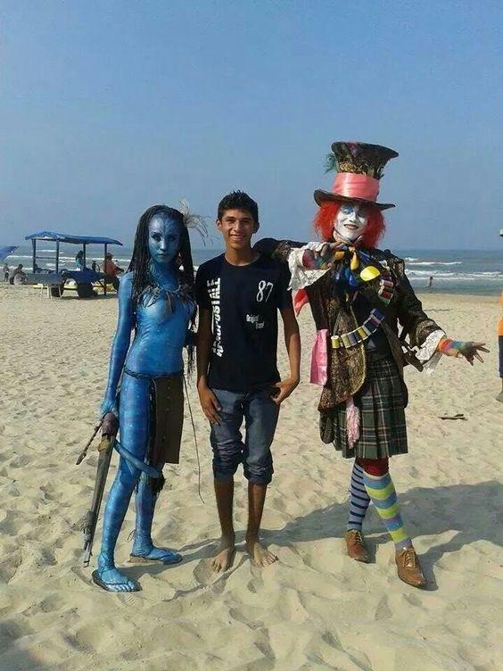 En la playa de Miramar