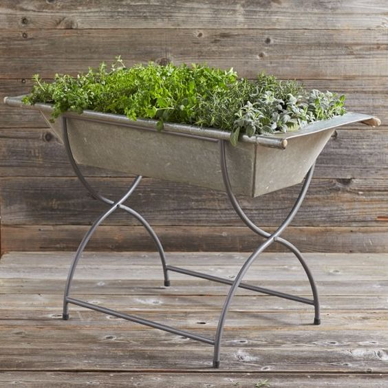 Vintage Galvanized Washtub with Stand | Williams-Sonoma