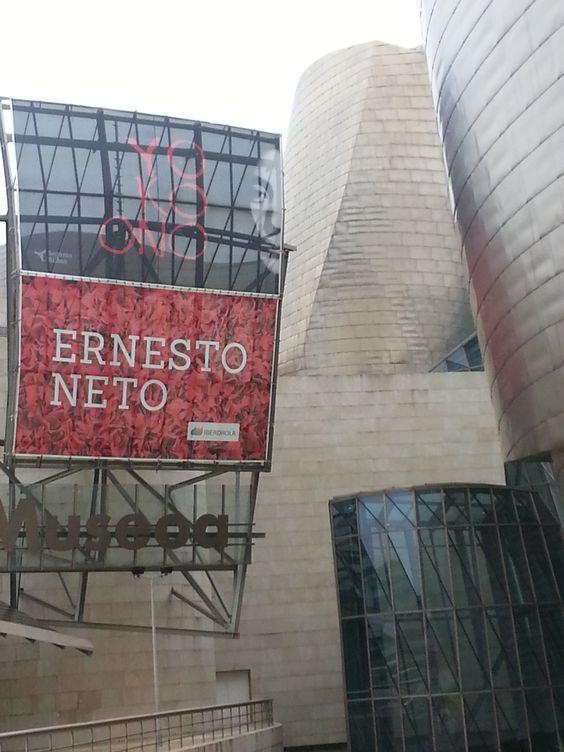 Carteles de las Exposiciones de Ernesto Neto y Yoko Ono en el Museo Guggenheim Bilbao.  #Cartel #Affiche #Arterecord 2014 https://twitter.com/arterecord