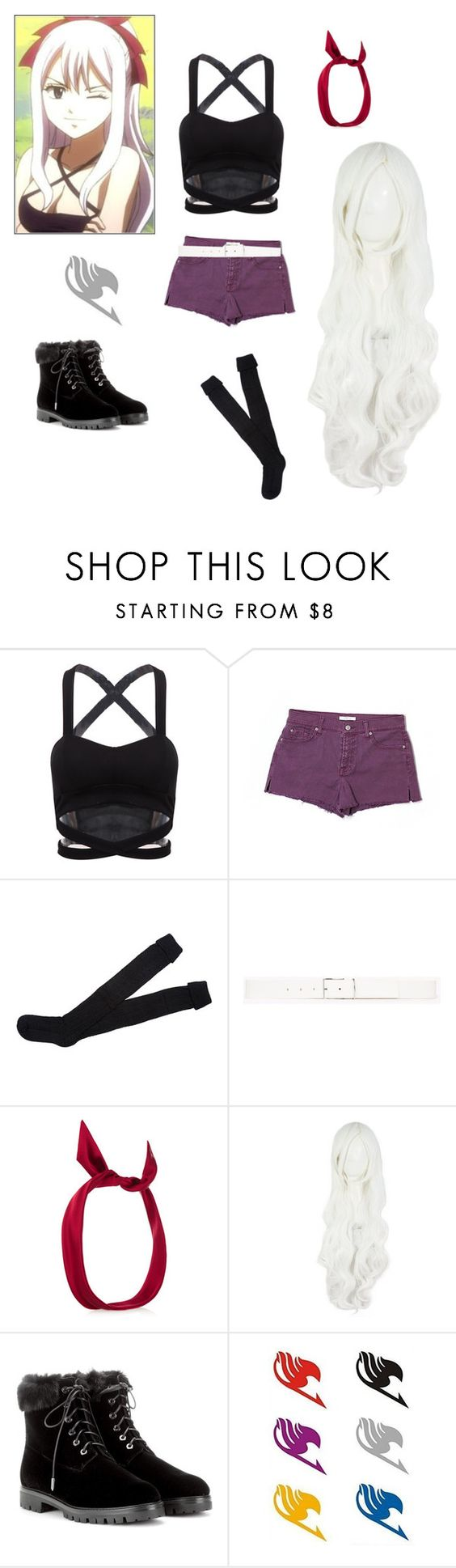 """""""Mirajane:Fairy Tail"""" by angle12345 ❤ liked on Polyvore featuring 7 For All Mankind, Theory, yunotme and Aquazzura"""