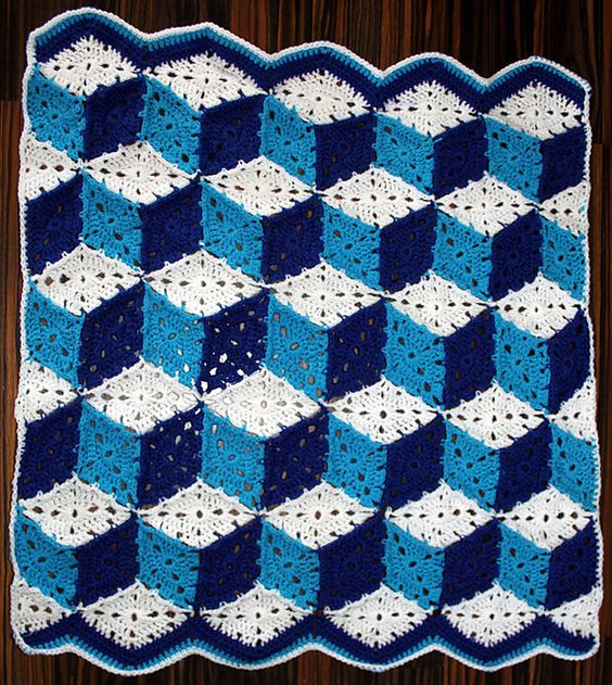 Tumbling Blocks Crochet Afghan Pattern Free : Pinterest The world s catalog of ideas
