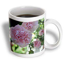 ($11.99) Pink Carnations Floral - 11oz Mug From 3dRose LLC