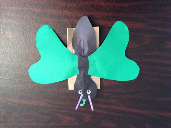 how to make a moving butterfly puppet