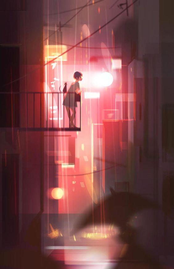 Ilustraciones con efectos lumínicos