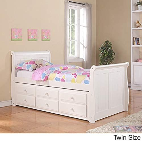 Amazing Offer On Donco Kids Twin Sleigh Captains Bed Twin Trundle