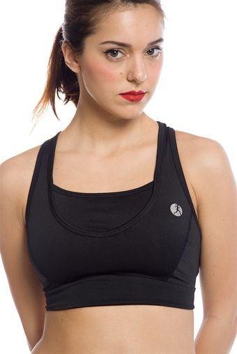Active and Able Racerback Sports Bra - Black from Necessity at Lucky 21
