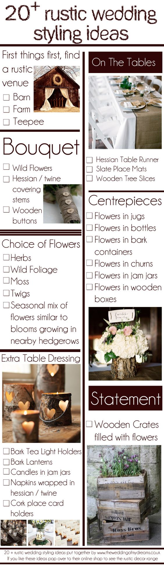 20 Rustic Wedding Styling Ideas | The Wedding of My DreamsThe Wedding of My Dreams