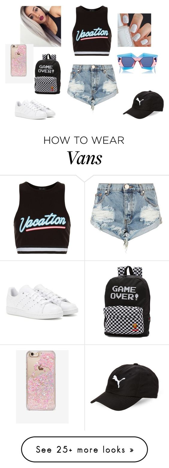 """summer time fun"" by drock96 on Polyvore featuring New Look, House of Holland, Skinnydip, Puma, One Teaspoon, Vans and adidas"