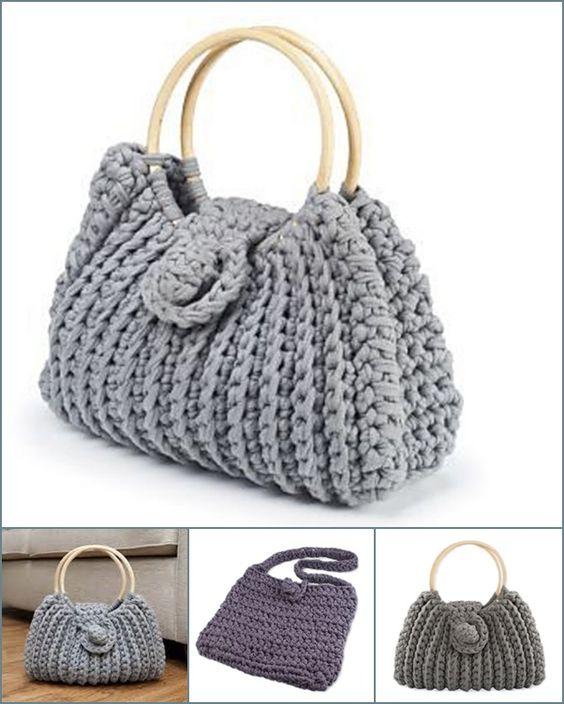 Most popular crochet bag -- Harriet Bag, Simple and Generous !   Free pattern --> http://wonderfuldiy.com/wonderful-diy-crochet-harriet-bag-with-free-pattern/ #diy #crafts #crochetpattern