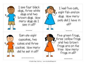 Printables Kindergarten Story daily story word problems kindergarten first second grade grade