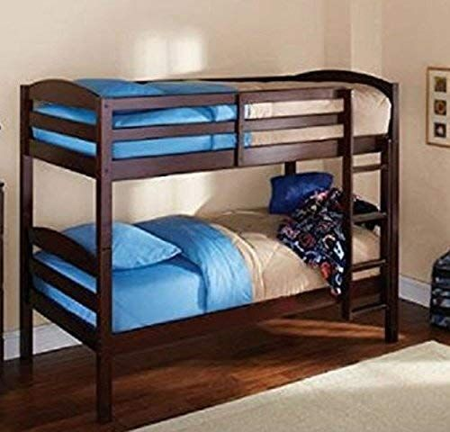 Mainstay Twin Over Twin Wood Bunk Bed Espresso Review With Images Kids Bedroom Furniture Girls Bedroom Furniture Wood Bunk Beds