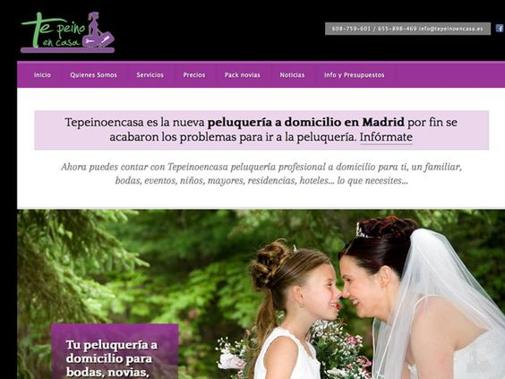 Diseño de página web para peluquería a domicilio en Madrid (Spain) http://www.tepeinoencasa.es
