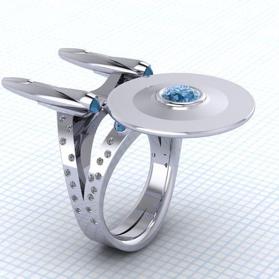 Des bagues de fiançailles à faire frémir un geek (et une geekette)