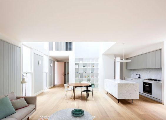 Tribe Studio Architects Created Double Bay House in Pastel Color Scheme - InteriorZine