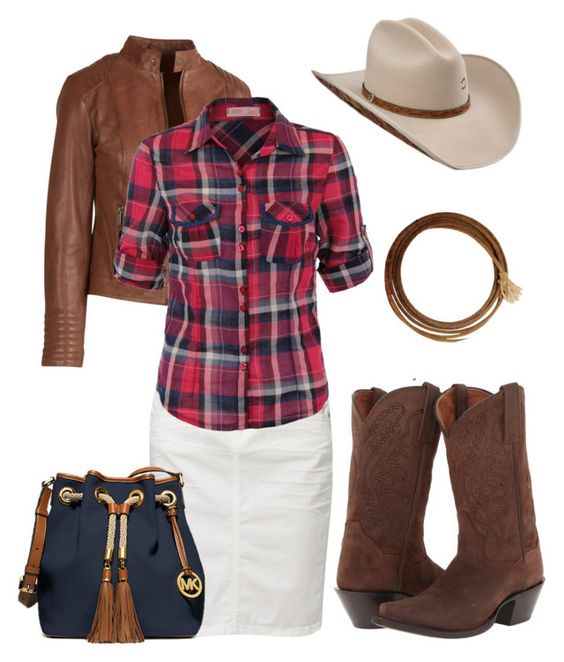 Pentecostal Cowboy outfits by marisdc23 on Polyvore featuring polyvore, fashion, style, Fat Face, TOM TAILOR, Dan Post and Michael Kors