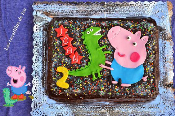 "Las recetillas de Isa: Tarta Sacher ""George"" Peppa Pig"