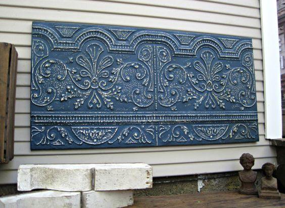 Antique Ceiling Tin Tile Vintage architectural by DriveInService