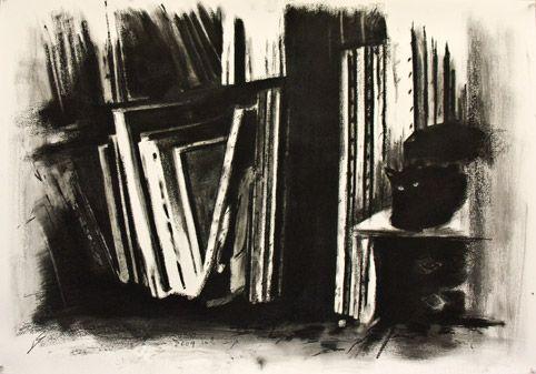 Hagit Shahal - charcoal on paper  100/70 cm  2009